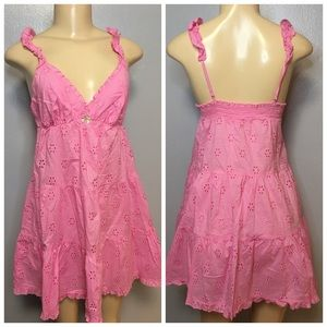 Victorias Secret Ruffle Cotton Nightie Pink Dress